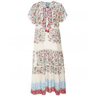 Johnny Was Holly Floral Print Midi Dress