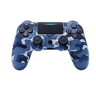 Contrôleur de jeu de jeu Bluetooth PS4 sans fil Blue Camo