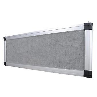Gray Trade Show Display System Optional Header Panel Board Aluminum Frame Logo