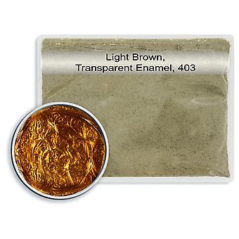 Bezołowiowy przezroczysty szkliwo jasnobrązowy, 403, 25gm