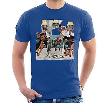 The Saturday Evening Post Kurt Ard Cabeleireiro Cena Men'T-Shirt