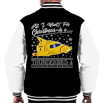 Thunderbirds Alt hvad jeg ønsker til jul er Thunderbird 4 Men's Varsity Jacket