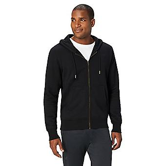 Peak Velocity Men's Heavyweight Fleece Full-Zip Athletic-Fit Hoodie, noir, L...