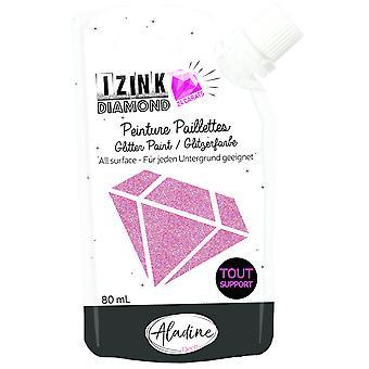 Aladine Izink Diamond Glitter Paint 24 Carats Rose Foncé 80ml