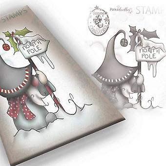 Polkadoodles Gnome North Pole Clear Stamp