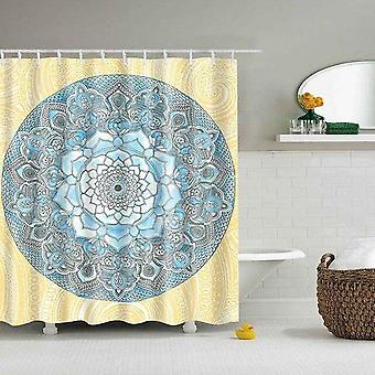 Mandala Geometric Print Shower Curtain