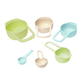 Dexam Wheatfibre Measuring Cups & Spoons