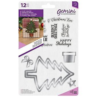 Gemini Christmas Tree Stamp & Die