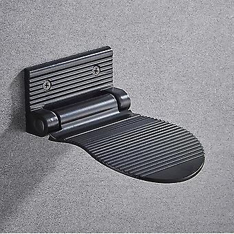 Shower Footstool Aluminium Alloy Black/silver Wall Mounted Shower Footstool