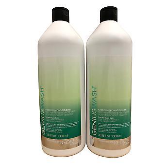 Redken Genius Wash Cleansing Conditioner Medium Hair DUO 33,8 OZ Chacun