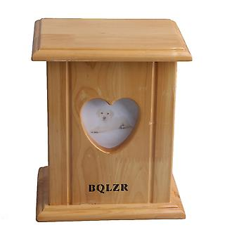 Heart Shaped Photo Frame Pet Dog Urn Ashes Box 20.4x17x13cm