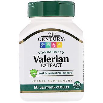 21e eeuw, Valeriaan extract, gestandaardiseerd, 60 vegetarische capsules