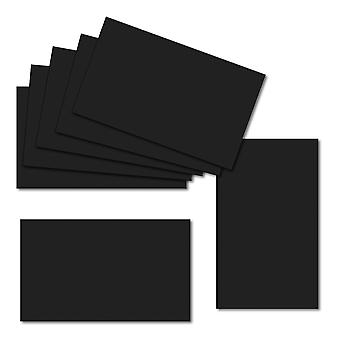 Jet Black. 60mm x 100mm. Place Card. 235gsm Feuille de carte.