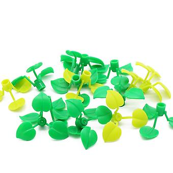 150pcs Broadleaf Clover Lucky Grass Building Blocks Flower Plant Parts City Diy