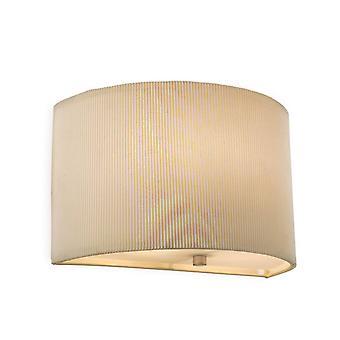 Firstlight Clio - 1 Light Up & Down Wall Light Cream, E27