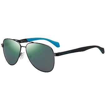 Hugo Boss 1077/S V81/Z9 Ciemne Czerwone-Czarne/Zielone wielowarstwowe okulary przeciwsłoneczne