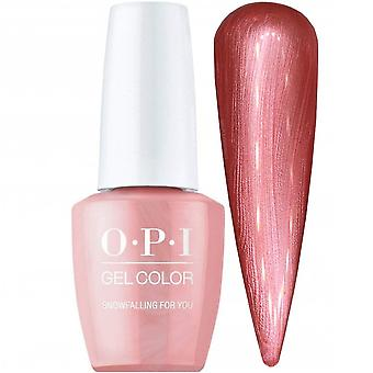 OPI GelColor Shine Bright 2020 Christmas Gel polske Collection - Snowfalling For You (GCHRM02) 15ml