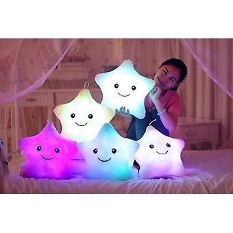 1pc 40cm Colorful Star Shape Toys- Star Glowing Led Luminous Light Pillow Soft