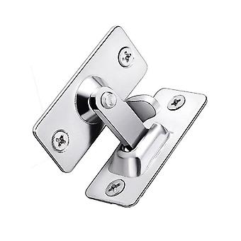 90-degree Right Angle Lock Room Door Buckle Suitable For Bathroom Barn Sliding Door (silver)