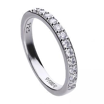 Diamonfire hopea valkoinen Zirkonia Ring R3645