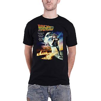 Back To The Future T Shirt Classic Movie Poster new Official Mens Black