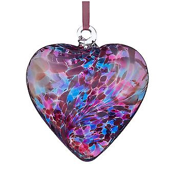 8cm Friendship Heart - Blue and Pink - Unique Gift and Hanging Decoration