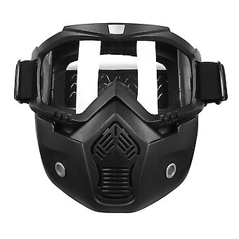 Detachable Modular Helmet Face Mask Shield Goggles