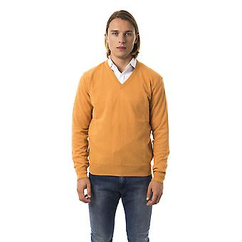 Uominitaliani Albicocca Orange V-Neck Sweater