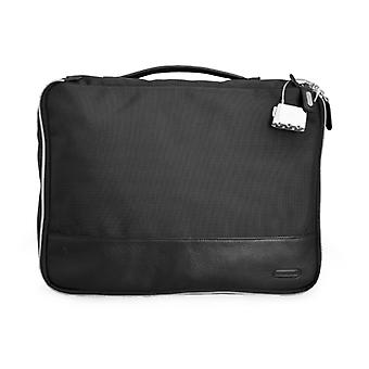 Weber Large Packing Cube With Internal Zip-pocket In Ballistic Nylon And Leather