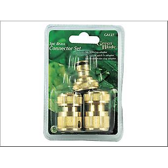 Green Blade Brass Connector Set 3 Piece BB-GA127