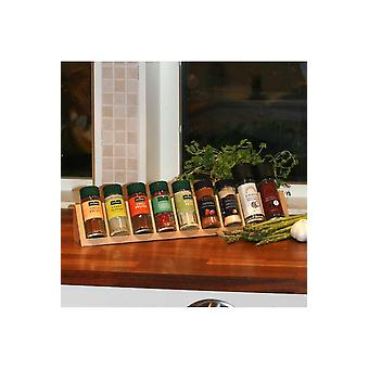 Spice Organizer  In Birch, Gives Overview On Kitchen Counter