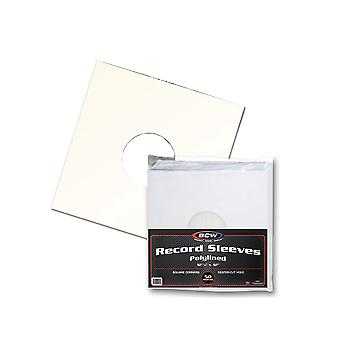 BCW Record Sleeves Paper White 33 RPM Polylined (Square)