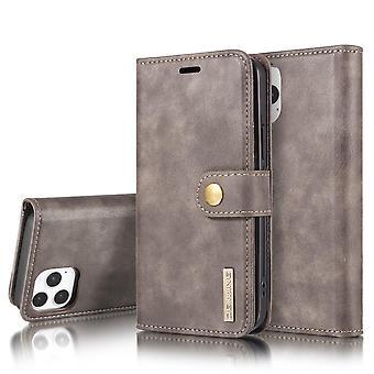 Dg. MING iPhone 12/12 Pro Split Leather Wallet Case - Grey