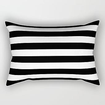 Black Lines Rectangle Pillow