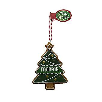 Figura de pan de jengibre GRANDPA GRAN colgante árbol de Navidad