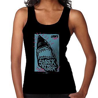 Jaws Shark Attack Wave Kvinner's Vest
