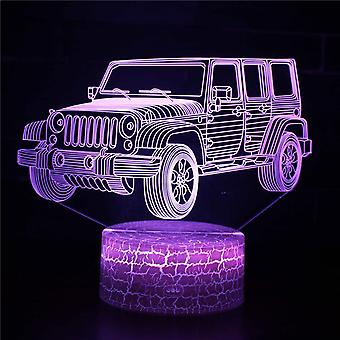 Child gift 3D Touch Light Night 7 colors remote control - Voiture #94