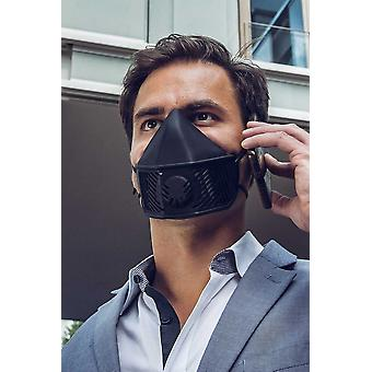 Mask With 10 Replaceable N99 Filters, Home Sterilizable, Black