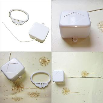 Pull Ring Music Box White Abs Plastic Pull String Clockwork Cord Music Box Baby