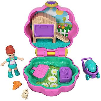 Polly pocket gcn08 tiny pocket places polly lila pet compact with doll lila's bunny house