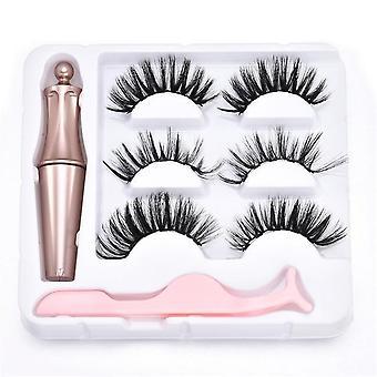 Kirpik Manyetik Sıvı Eyeliner & Manyetik Takma Kirpikler ve Cımbız Seti -