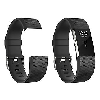 Aquarius Classic Replacement Strap Compatible Fitbit Charger-2 Black, Small