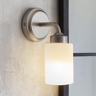 Garden Trading Waterloo IP44 Bathroom Wall Light In Satin Nickel
