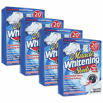 Haven Miracle White Clothes Stain Remover Booster, 20 Feuilles- 4 Pack