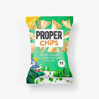 Properchips Crème sure & Copeaux de lentilles ciboulette 24g x20
