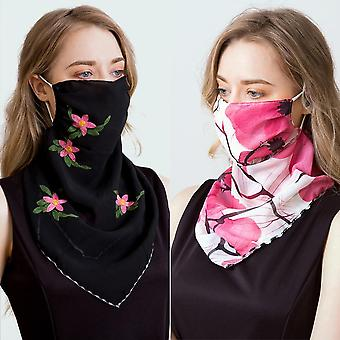 Newest Chiffon Face Mask Scarf Sun Protection Masks