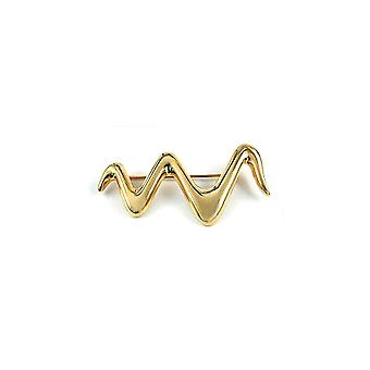 Brooch Wavy Gold Plated