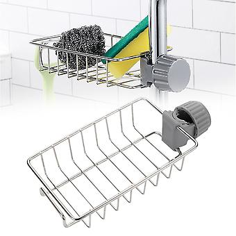 Stainless Steel Faucet Rack Kitchen Storage Shelf Sponge Dish Cloth Finishing Rack Drain Rack Pool Rag Storage Drain Dry Rack