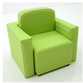 Barn's Sofa Seat. Solid Wood bord og stoler Kombinasjon. Lær Lær