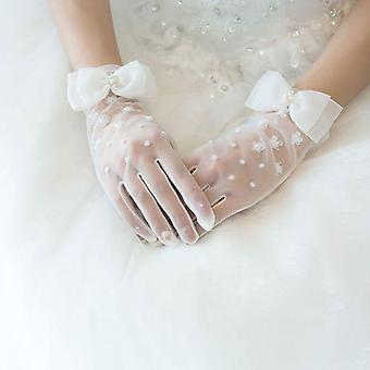Wedding Dress Accessories Charm Bridal Gloves Lace With Finger Long Jewelry